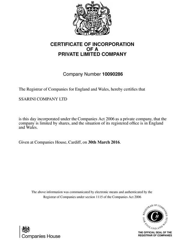 Ssarini-certificate